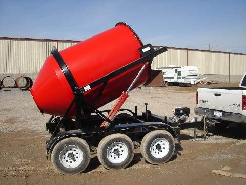 Portable Concrete Mixer 2DH-3 with Custom Red Paint